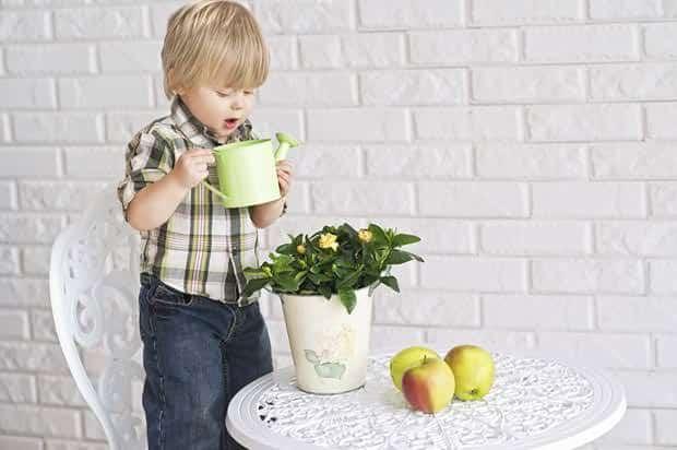 Giardinaggio-bambini