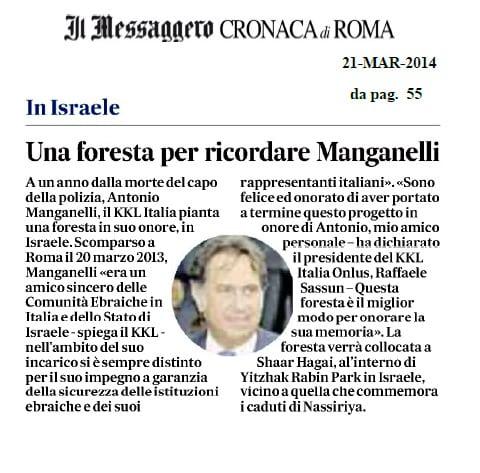 Messaggero - Manganelli