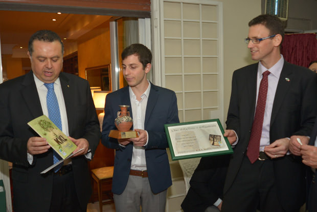 Presidente-KKL-Italia-Raffaele-Sassun,-Gilad-Shalit,-Direttore-Generale-KKL-Italia-Shariel-Gun