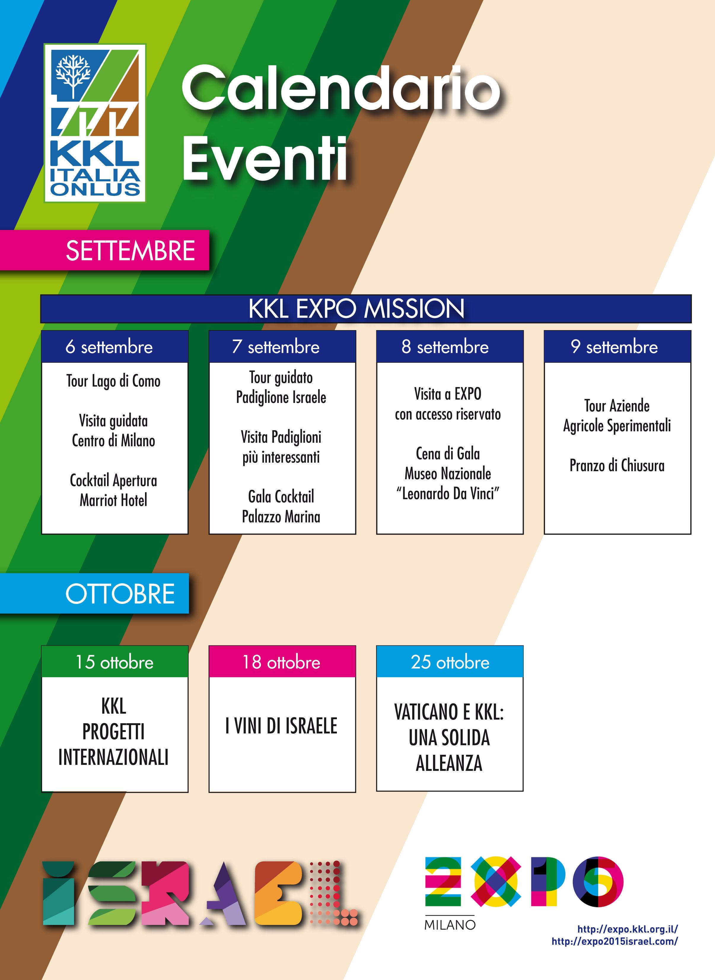 Calendario Eventi.Calendario Eventi Kkl Italia Onlus